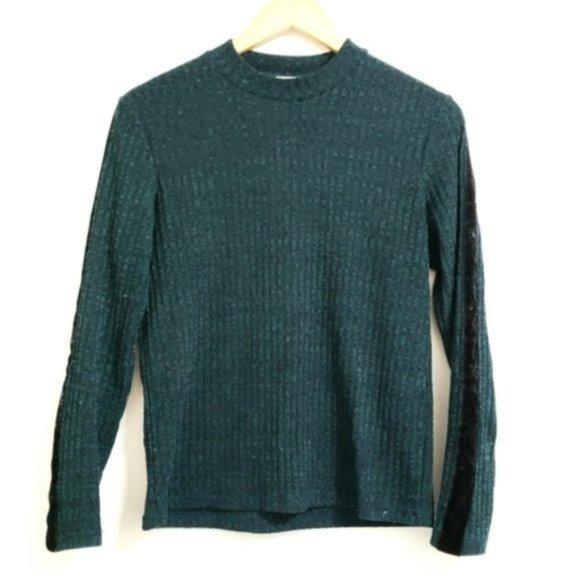 ASOS JDY Ribbed Sweater Velvet Sleeve Sweater